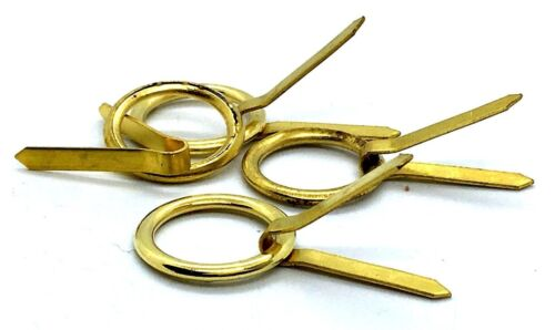 RING /& CLIP PASSE/' PARTOUT Brass Picture Back Board Framing Clips Rings 192