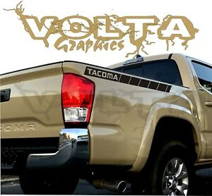 2X Rear Bedside Stripes Vinyl Decals For Toyota Tacoma 2004-2020 Truck