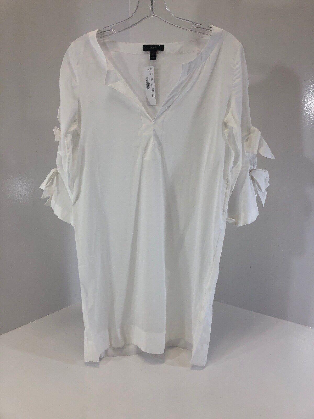 af9e05b5c24 J Crew Womens Carlotta Tie Sleeve Dress XXS color White NWT Size ...