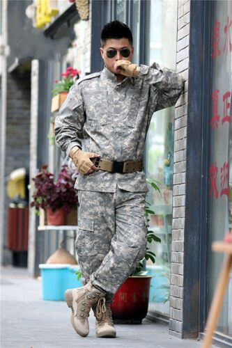 Airsoft Military Tactical Special Force Combat BDU Uniform Jacket /& Pants Suits