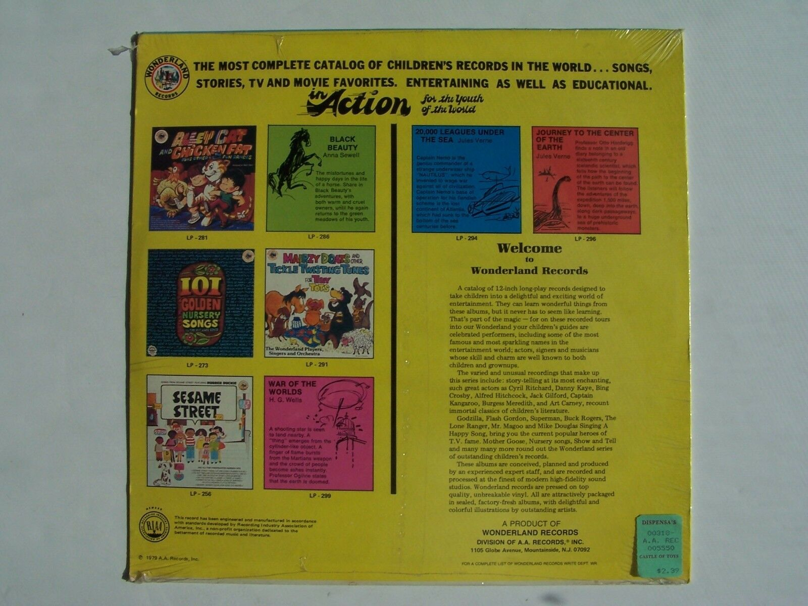 The Wonderland Choir - Preschool Activities Vinyl LP Re