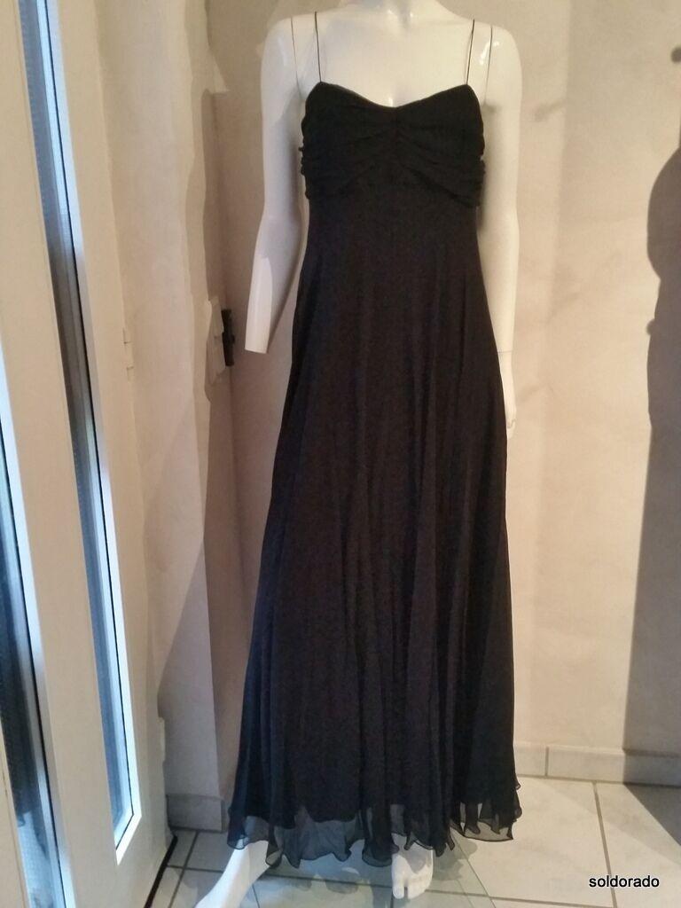RALPH LAUREN Abendkleid aus Seide schwarz Gr. 4 34 36 Euro 395 00NEU