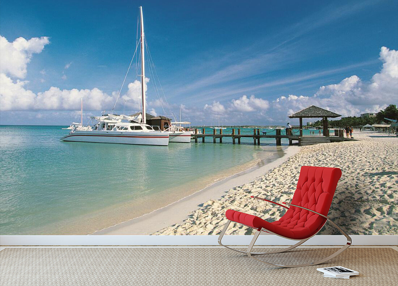 3D Beach, Sailing 3435 Wall Paper Wall Print Decal Wall Indoor AJ Wall Paper