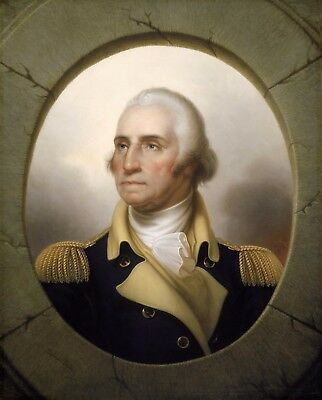 "8.5/"" x 11/"" Glossy General George Washington at Mount Vernon Photo EUC"
