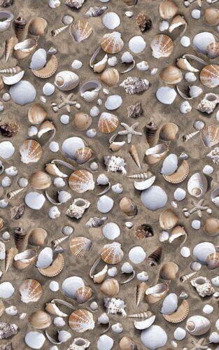 2m x 45cm SEASIDE SEA SHELLS SAND STICKY BACK PLASTIC SELF ADHESIVE VINYL FILM