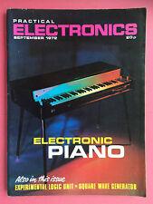 PRACTICAL ELECTRONICS - Magazine - September 1972 - Electronic Piano
