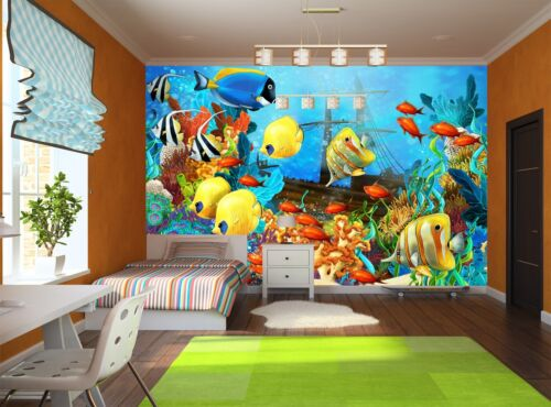 Photo Wallpaper The Coral Reef GIANT WALL DECOR PAPER POSTER FOR BEDROOM