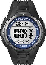 Mens Timex Marathon Indiglo Black Rubber Sports Alarm Digital Watch T5K359