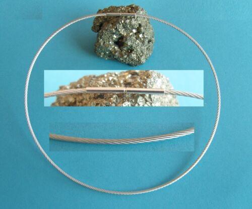 Acier Inoxydable tour de cou 1 mm Fil Collier baïonnette collier bijoutier Qualité Top