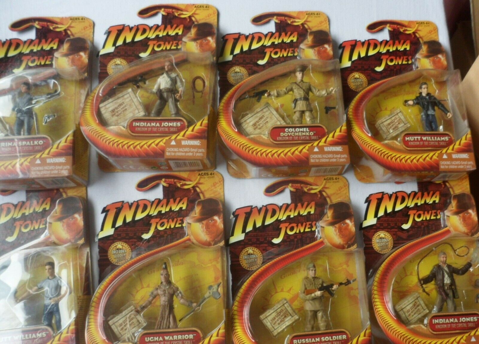 Indiana Jones - kindgom of the Crystal Skull  -  8 X Figures