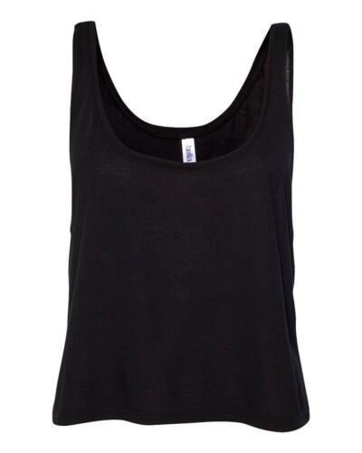 Damen Tank-Top Trägershirt Shirt Ärmellos kurz geschnitten S M L XL in 10 Farben