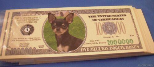 WHOLESALE LOT 100 CHIHUAHUA LOVERS Small DOG US MONEY Dollar BILLS usa u.s.a.