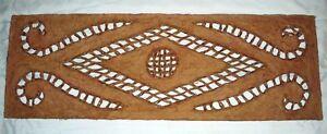 Handmade, Rustic Wood Amate Paper Wall Decor (Beige)