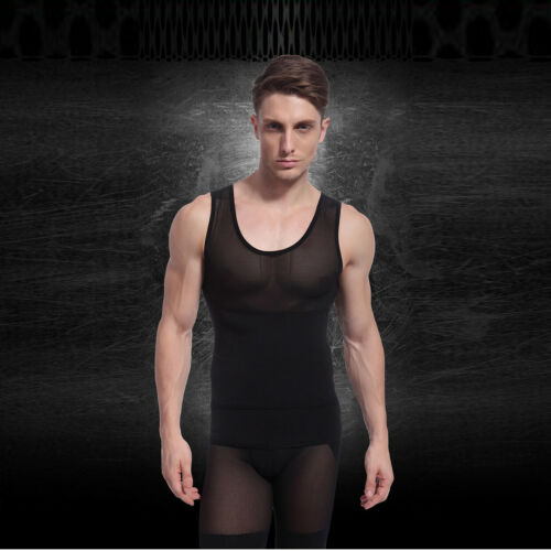 Details about  / JB Fitness Gym Men/'s Compression Net Belly Belt Base Tight-fitting Sleeveless