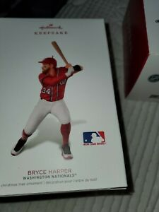 HALLMARK TREE ORNAMENTS NEW SPORTS LOT OF 3 BRYCE HARPER ...