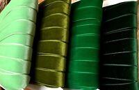 Vintage 7/8 Velvet Ribbon 3 Yards Made In England