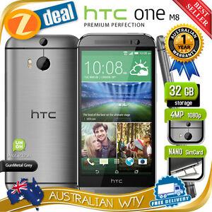 NEW-SEALED-BOX-HTC-ONE-M8-32GB-4G-LTE-GREY-100-UNLOCKED-PHONE-12MTH-AUS-WTY