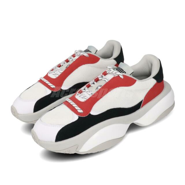 Puma Alteration Core White Red Black Grey Men Chunky Shoes Sneakers 371584-02