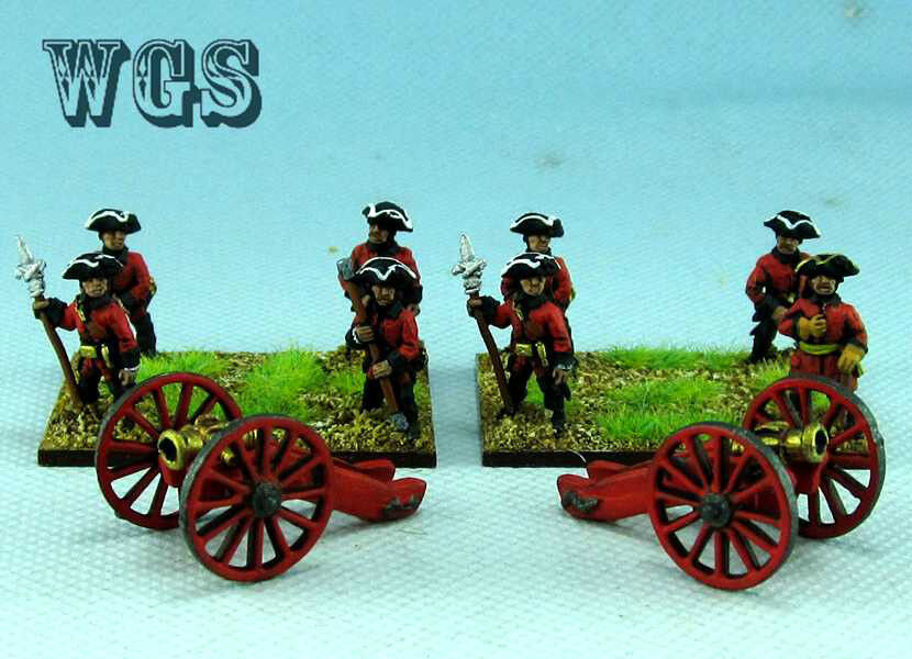15mm SYW Seven Years War painted Russia Artillery and 12lb Cannon RC1
