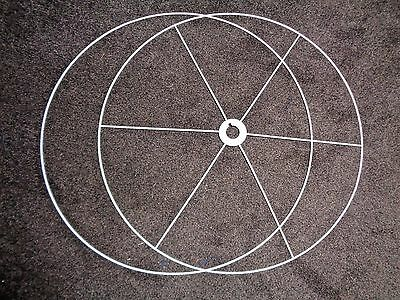 """Honing 1 Or 5 Or 10 ( 60cm 24"""" Wide ) Cylinder Drum Frame Ring Sets To Make A Lampshade"""