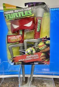 Teenage-Mutant-Ninja-Turtles-Ninja-Combat-Gear-RAPHEAL-Red-Bandana-amp-2-Sai