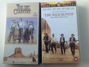 The Wild Bunch 18 amp The Big Country PG VHS Video Cassettes - <span itemprop=availableAtOrFrom>Leeds, United Kingdom</span> - The Wild Bunch 18 amp The Big Country PG VHS Video Cassettes - Leeds, United Kingdom
