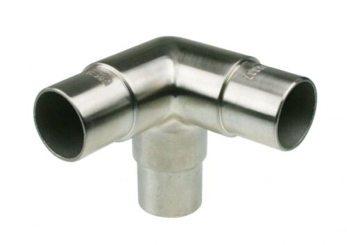 Rohrverbinder Eckstück Edelstahl V2A   33,7 mm Rohr