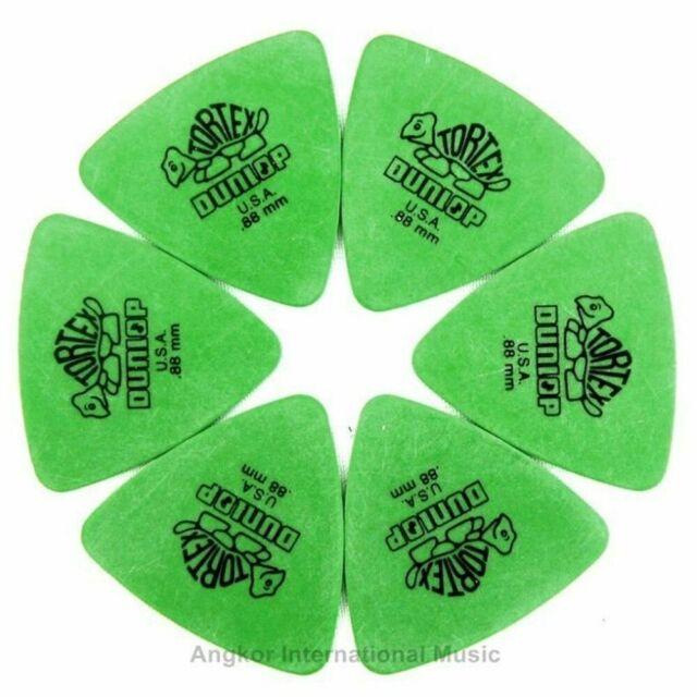 Dunlop Tortex Triangle 6 Green 0.88mm Picks 6 Guitar Picks / Plectrums Bass