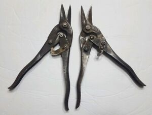 Set-of-2-Vintage-Wiss-Metal-cutters-Old-Iron-USA