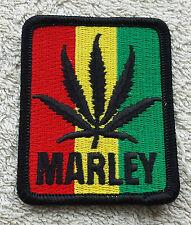 BOB MARLEY LEAF PATCH Cloth Badge/Emblem/Insignia Biker Jacket Bag Rastafarian