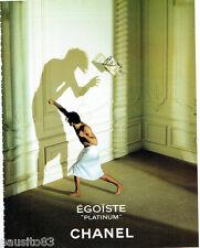 PUBLICITE ADVERTISING 125  1993  CHANEL parfum homme EGOISTE PLATINIUM