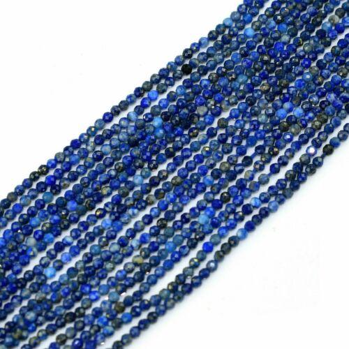 1 Strand Natural Lapis Lazuli 2mm Cut Gemstone Jewelry Making Rondelles Beads