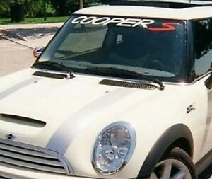 Mini Cooper S Banners Windshield Decals Cars Stickers X EBay - Windshield decals for trucks