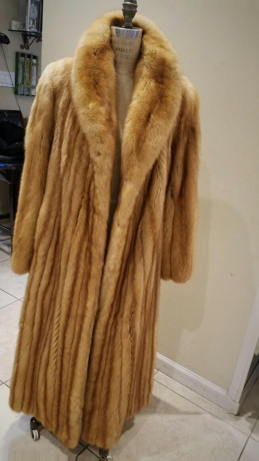 Natural golden Russian Sable Coat Coat Coat - Full Length 34995d