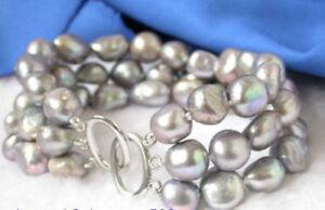 3-Reihen-8-9-mm-Grau-Barock-Suesswasser-Perle-Armband