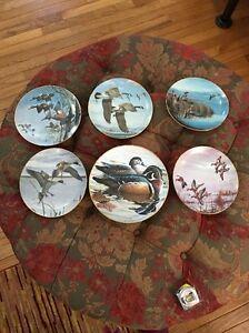 MIGRANTS PLATE DAVID MAASS DUCKS TAKING FLIGHT 5 Plus Wood ducks Hunting Plate