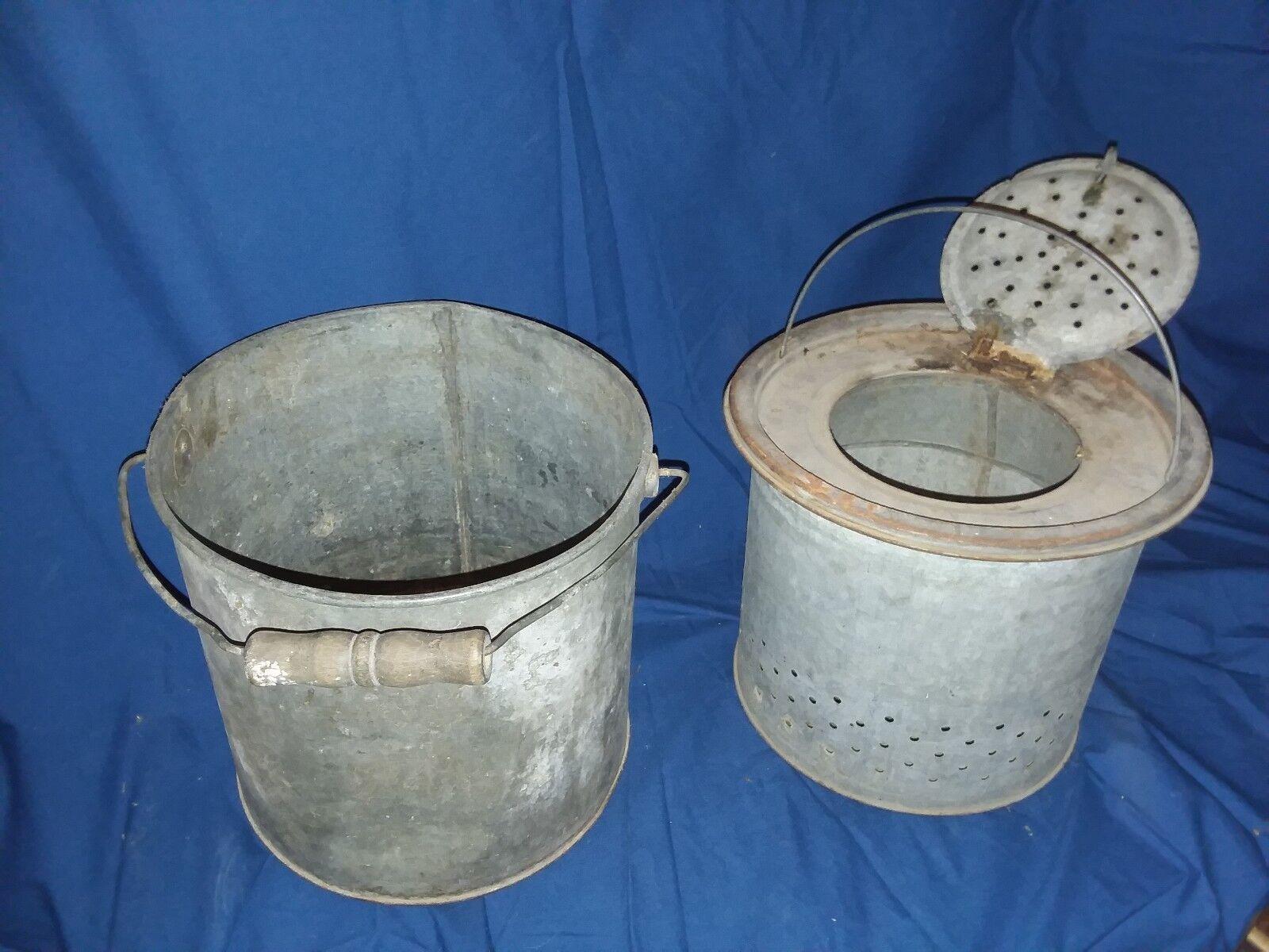 Vintage Cebo Cubo Minnow Bucket