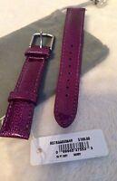 Michele 16mm Purple Berry Patent Leather Watch Band Strap Ms16aa350535