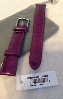 Michele 16mm Purple Berry Patent Leather Watch Band Strap Ms16aa350535