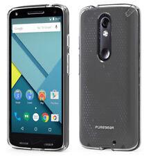 PureGear Slim Shell Clear Case Cover for Verizon Motorola Droid Turbo 2 Xt1585