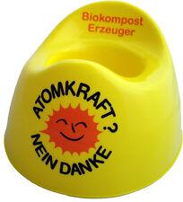ATOMKRAFT NEIN DANKE Biokomposterzeuger Kindertopf, Babytöpfchen gelb