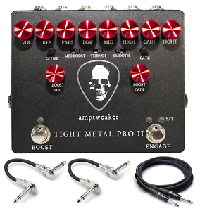 New Amptweaker Tight Metal Pro II Distortion Guitar Effects Pedal