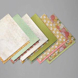 12 sheets Stampin Up Garden Lane Designer Series Paper 6x6