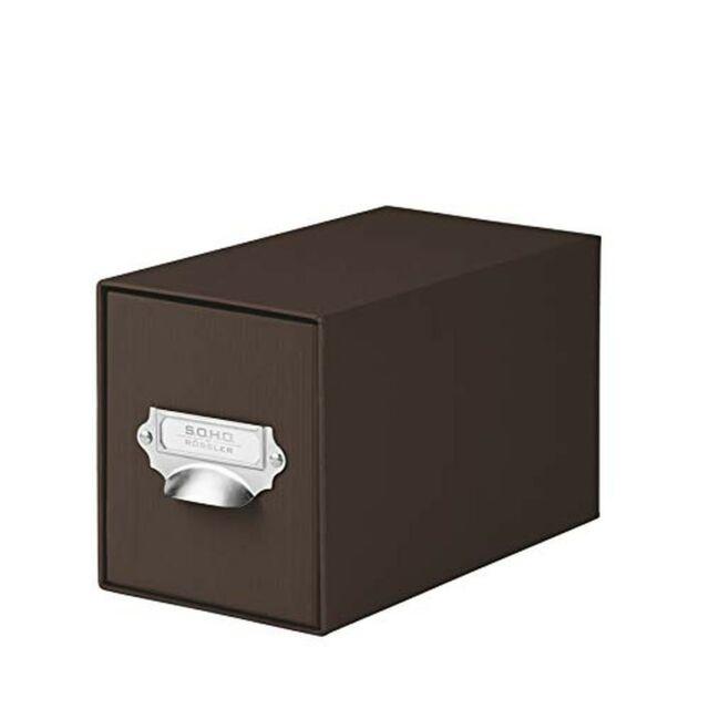 R/össler SOHO CD Storage Box with Metal Index Holder Red