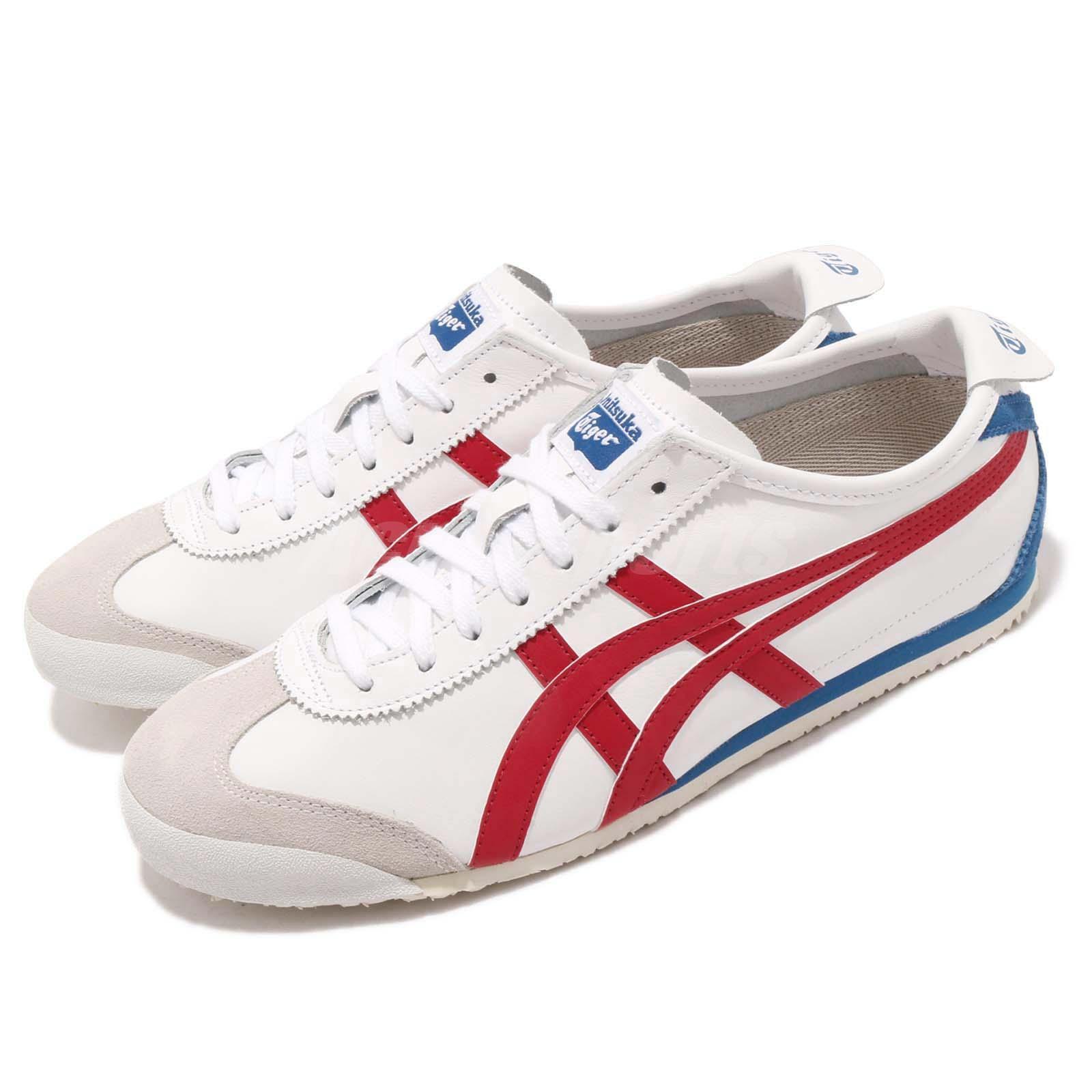 Asics Onitsuka Tiger bianca Mexico 66 OT bianca Tiger Rosso Blue Uomo Shoes Scarpe da Ginnastica D4J2L-0123 e65bb0