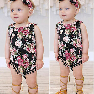 373e59473 Kid Newborn Infant Toddler Baby Girls Floral Romper Jumpsuit Sunsuit ...