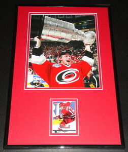 Eric-Staal-Signed-Framed-11x17-Photo-Display-Hurricanes-w-Stanley-Cup