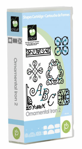 *New* Cricut ORNAMENTAL IRON 2 Font Decor Cartridge Factory Sealed Free Ship