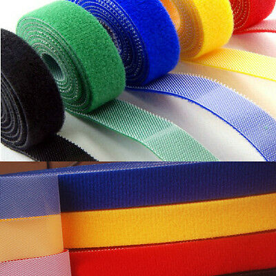 10mm 15mm 20mm Double Sided Hook and Loop Tape Fastener Cable Ties Straps