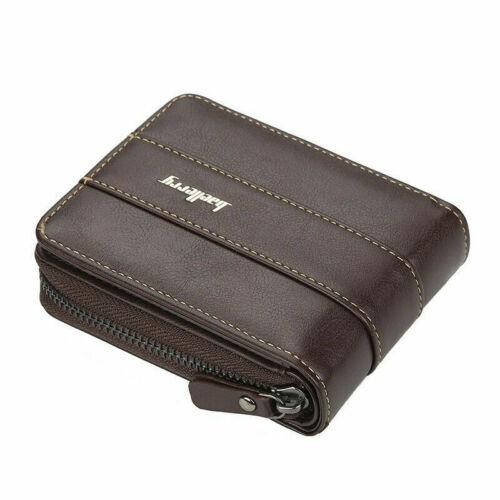 Men Men/'s Leather Wallet ID Credit Card Holder Clutch Bifold Pocket Zipper Coin